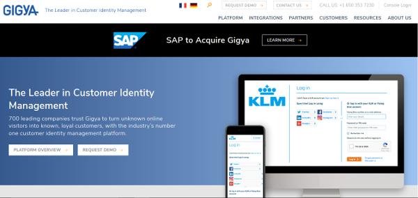 SAP s'offre l'identification des identités clients deGigya