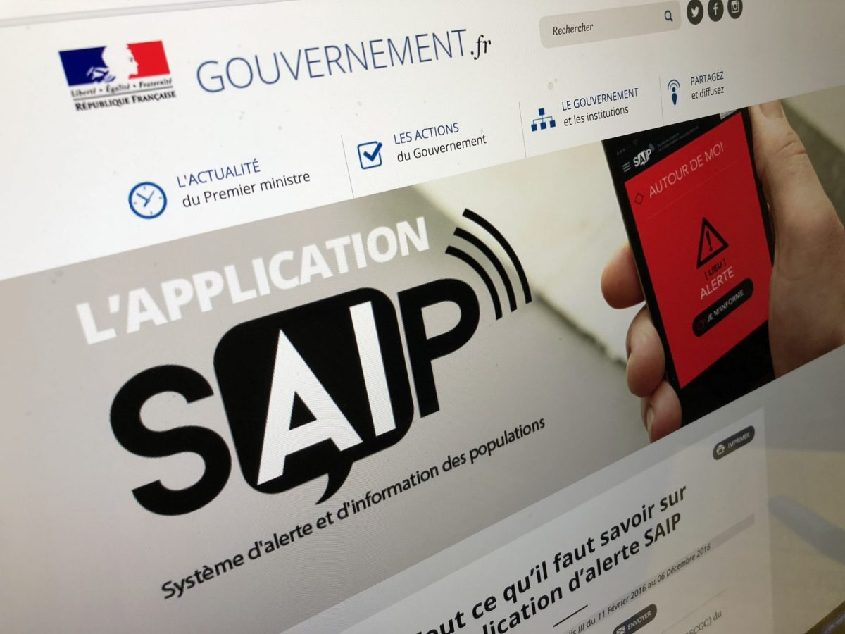 L'application SAIP n'alertera plus personne